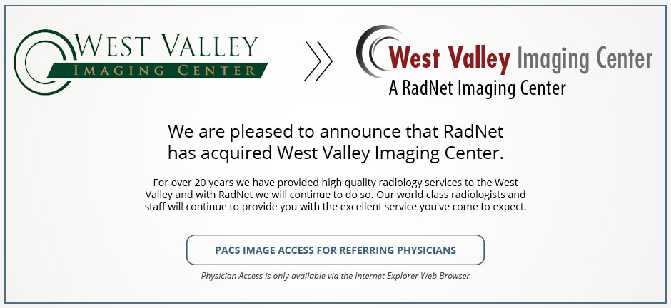 RadNet Acquire West Valley Imaging Center